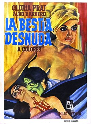 La bestia desnuda - Mexican Movie Poster (thumbnail)