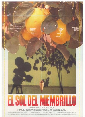 El sol del membrillo - Spanish Movie Poster (thumbnail)