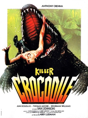 Killer Crocodile - French Movie Poster (thumbnail)
