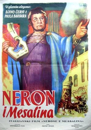 Nerone e Messalina - Yugoslav Movie Poster (thumbnail)