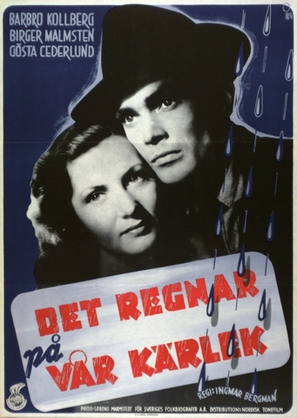 Det regnar på vår kärlek - Swedish Movie Poster (thumbnail)