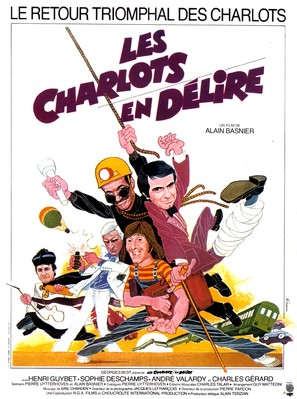 Charlots en dèlire, Les - French Movie Poster (thumbnail)