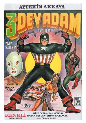 3 dev adam - Turkish Movie Poster (thumbnail)