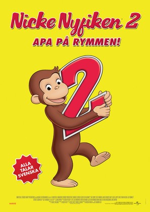 Curious George 2: Follow That Monkey - Swedish Movie Poster (thumbnail)
