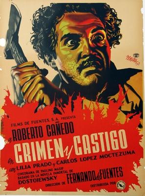Crimen y castigo - Mexican Movie Poster (thumbnail)