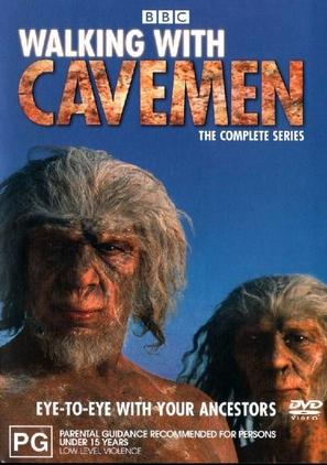 """Walking with Cavemen"" - Australian DVD movie cover (thumbnail)"