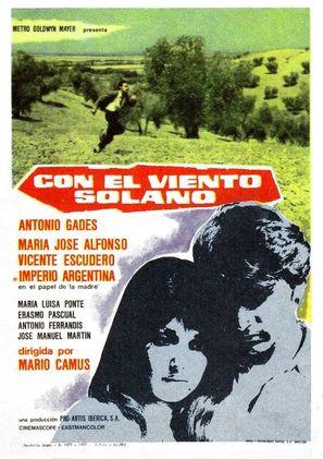 Con el viento solano - Spanish Movie Poster (thumbnail)
