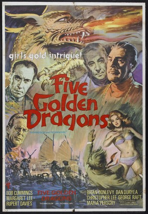 Five Golden Dragons - British Movie Poster (thumbnail)
