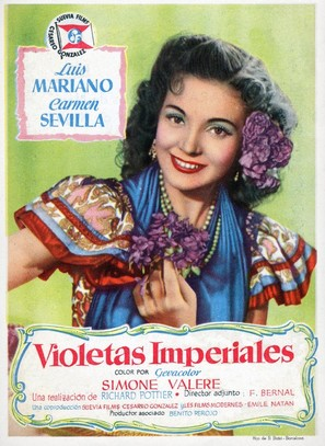 Violetas imperiales - Spanish Movie Poster (thumbnail)