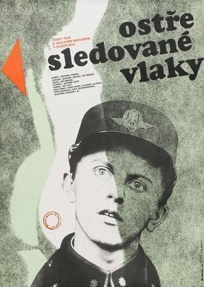 Ostre sledované vlaky - Czech Movie Poster (thumbnail)