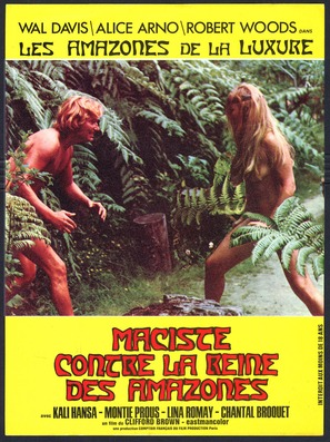 Maciste contre la reine des Amazones - French Movie Poster (thumbnail)