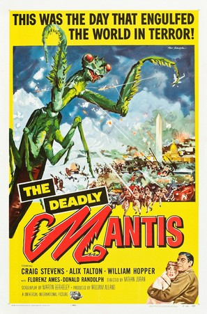 The Deadly Mantis - Theatrical movie poster (thumbnail)