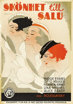 Beauty for Sale - Swedish Movie Poster (thumbnail)