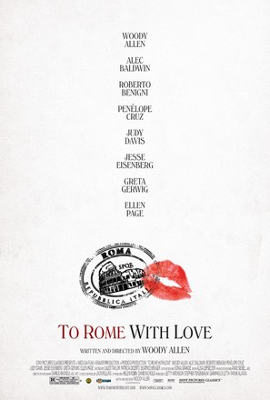 To Rome with Love - Movie Poster (thumbnail)