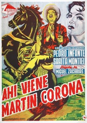 Ahí viene Martín Corona - Mexican Movie Poster (thumbnail)