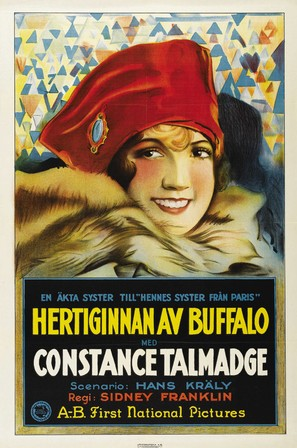 The Duchess of Buffalo - Swedish Movie Poster (thumbnail)