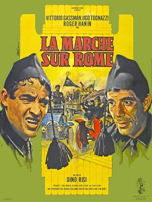 La marcia su Roma - French Movie Poster (thumbnail)