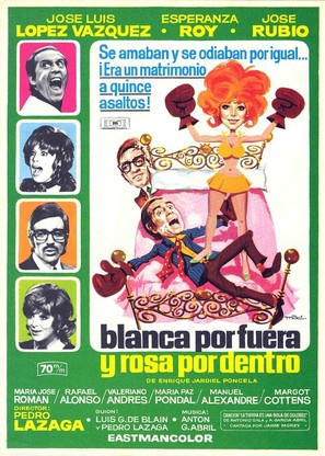 Blanca por fuera y Rosa por dentro - Spanish Movie Poster (thumbnail)