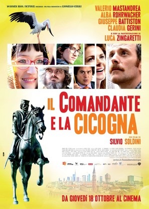 Il comandante e la cicogna - Italian Movie Poster (thumbnail)