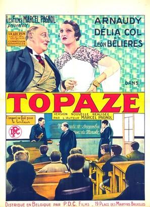 Topaze - Belgian Movie Poster (thumbnail)