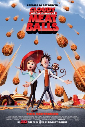 Cloudy with a Chance of Meatballs - Movie Poster (thumbnail)