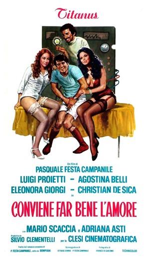 Conviene far bene l'amore - Italian Movie Poster (thumbnail)