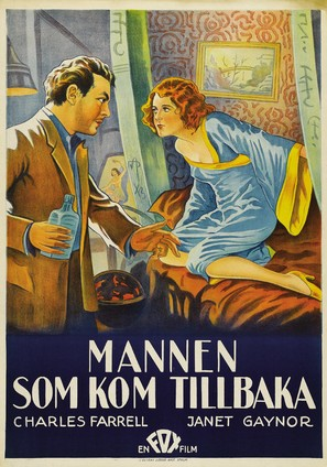 The Man Who Came Back - Swedish Theatrical poster (thumbnail)