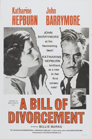 A Bill of Divorcement - Re-release movie poster (thumbnail)