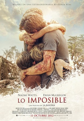 Lo imposible - Spanish Movie Poster (thumbnail)