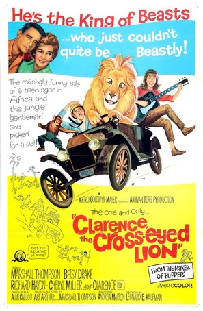 Clarence, the Cross-Eyed Lion - Theatrical movie poster (thumbnail)