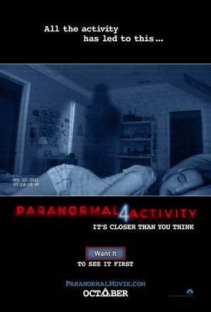 Paranormal Activity 4 - Movie Poster (thumbnail)