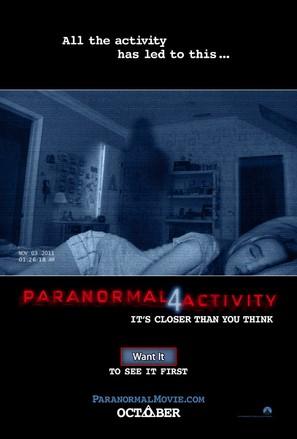 Paranormal Activity 4 - Movie Poster (thumbnail)