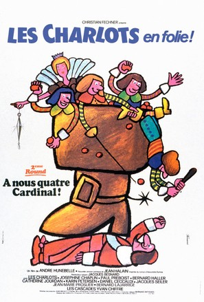 Charlots en folie: À nous quatre Cardinal!, Les