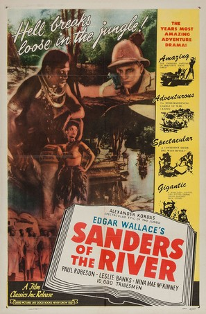 Sanders of the River - Re-release movie poster (thumbnail)