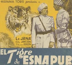 Der Tiger von Eschnapur - Spanish Movie Poster (thumbnail)