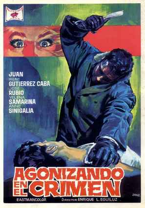 Agonizando en el crimen - Spanish Movie Poster (thumbnail)