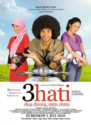 3 hati dua dunia, satu cinta - Indonesian Movie Poster (thumbnail)