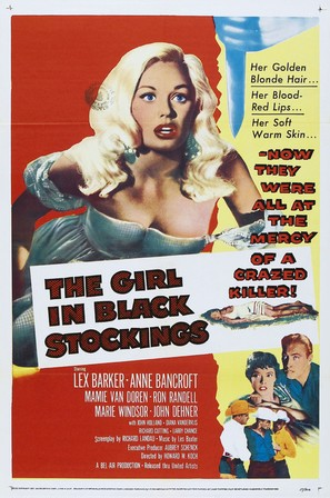 The Girl in Black Stockings - Movie Poster (thumbnail)