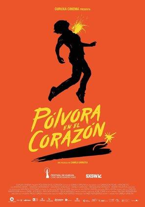 Pólvora en el corazón - Spanish Movie Poster (thumbnail)