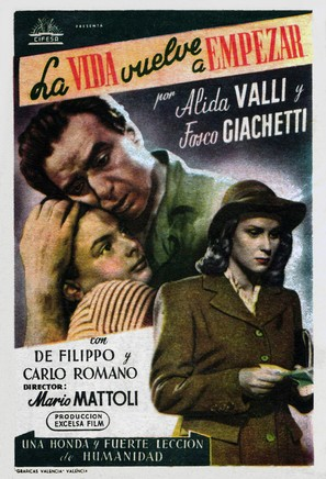 La vita ricomincia - Spanish Movie Poster (thumbnail)