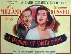 A Woman of Distinction - Movie Poster (thumbnail)