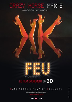 FEU: Crazy Horse Paris - French Movie Poster (thumbnail)