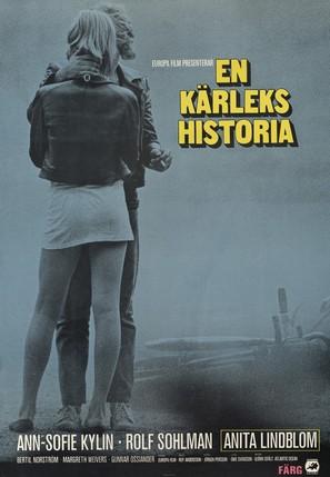 En kärlekshistoria - Swedish Movie Poster (thumbnail)