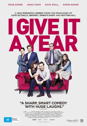 I Give It a Year - Australian Movie Poster (thumbnail)