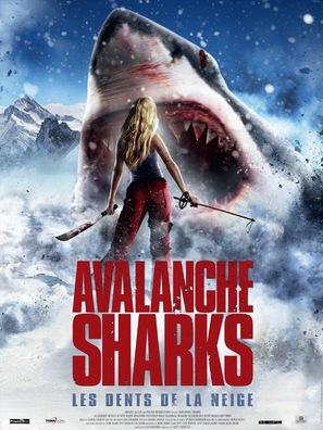 Avalanche Sharks - French Movie Poster (thumbnail)