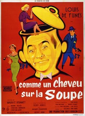 Comme un cheveu sur la soupe - French Movie Poster (thumbnail)