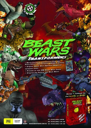 """Beast Wars: Transformers"" - Australian Video release movie poster (thumbnail)"