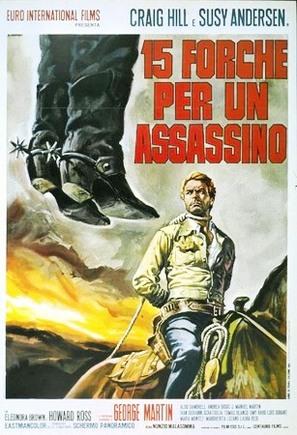 Quindici forche per un assassino - Italian Movie Poster (thumbnail)