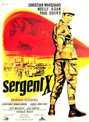 Sergent X - French Movie Poster (thumbnail)