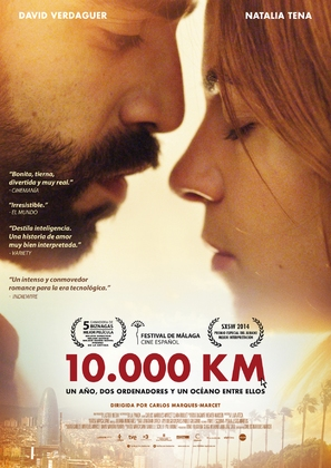 10.000 Km - Spanish Movie Poster (thumbnail)